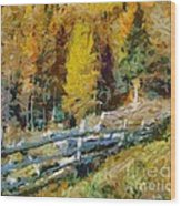 Larches In Autumn Wood Print