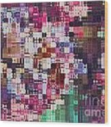 Large Blocks Digital Abstract - Purples Wood Print
