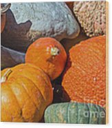 Large Edible Gourds Wood Print