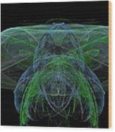 Large Jelly Fish Wood Print