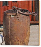 Large Mining Bucket Wood Print