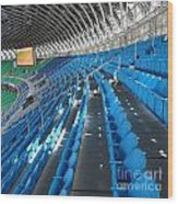 Large Modern Sports Facility Wood Print by Yali Shi
