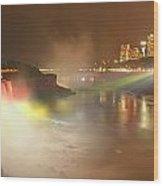 Large Niagara Nighttime Panorama Wood Print