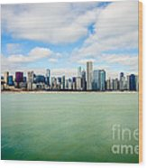 Large Picture Of Downtown Chicago Skyline Wood Print