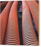 Large Sewage Pipes Wood Print
