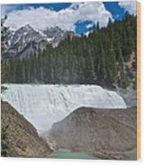 Larger View Of Wapta Falls In Yoho Np-bc Wood Print