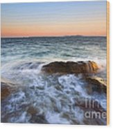 Larrabee Sunset Wood Print