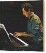 Larry Chinn On Piano Wood Print