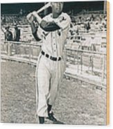 Larry Doby Wood Print