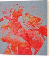 Larry Fitzgerald Wood Print