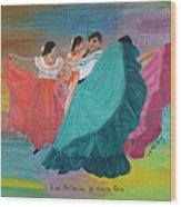 Las Bailarinas De Costa Rica Wood Print