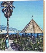 Las Brisas Gazebo Wood Print
