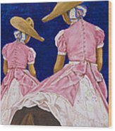 Las Charras Rosadas Wood Print