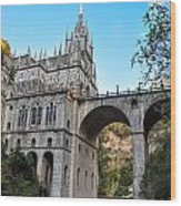 Las Lajas Sanctuary Wood Print