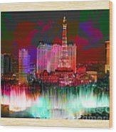 Las Vegas Bellagio Painting Wood Print