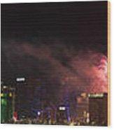 Las Vegas Fireworks Wood Print