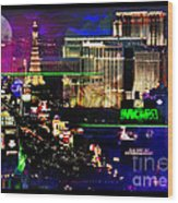Las Vegas Igniting Your Fire Wood Print