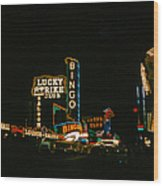 Las Vegas Lights2 Wood Print
