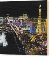 City - Las Vegas Nightlife Wood Print