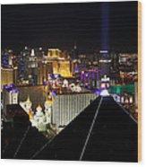 Las Vegas Night Pano Wood Print