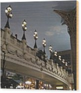 Las Vegas - Paris Casino - 12126 Wood Print by DC Photographer