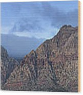 Las Vegas Sapphire Wood Print