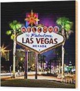 Las Vegas Sign Wood Print
