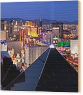 Las Vegas Skyline Wood Print by Brian Jannsen