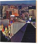 Las Vegas Sundown Wood Print