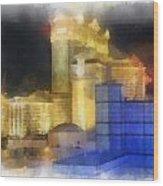 Las Vegas The Palace Photo Art Wood Print