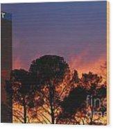 Las Vegas Trump Tower Sunset Wood Print