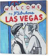 Las Vegas Wedding Wood Print by Gary Niles