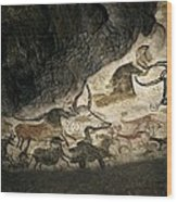 Lascaux II Cave Painting Replica Wood Print