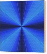 Laser Blue Light Wood Print