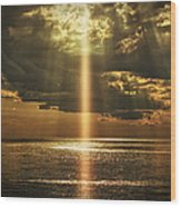 Laser Light Reflections Wood Print