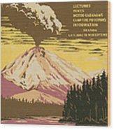 Lassen Travel Poster 1938 Wood Print