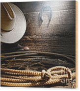 Lasso In Old Barn Wood Print