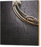 Lasso On Leather Wood Print