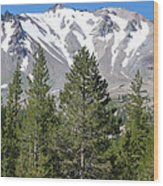 Lasson Peak 2 Wood Print