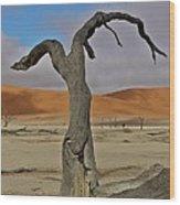 Last Dance Wood Print by Liudmila Di
