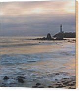 Last Light At Pigeon Point Lighthouse Wood Print