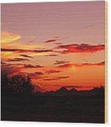 Last Night's Sunset Wood Print