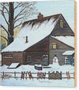 Last of Winter Wood Print