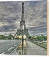 Last Parisian Glow Wood Print