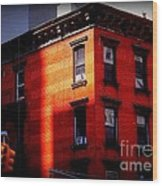 Last Rays Of The Sun - Old Buildings Of New York Wood Print