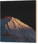 Last Rays Upon Mt Fuji Wood Print