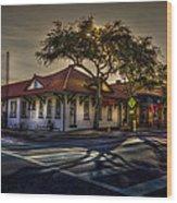 Last Stop Tarpon Springs Wood Print