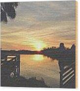 Last Sunset 2012 2 Wood Print