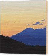 Last Sunset Of 2012 Wood Print