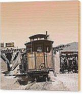 Last Train Home Wood Print